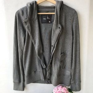 Used, GUC G-Star Raw Gray Hooded Asymmetric Jacket for sale